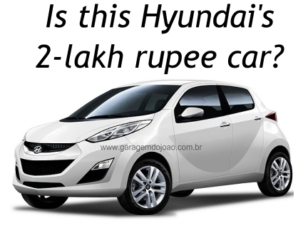 new car launches by hyundaiHyundais 800cc 2lakh rupee subSantro car coming to Auto Expo 2012