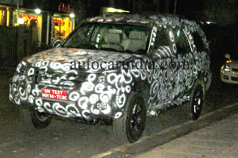Force SUV Spied2 Force Motors SUV Spied At Pune