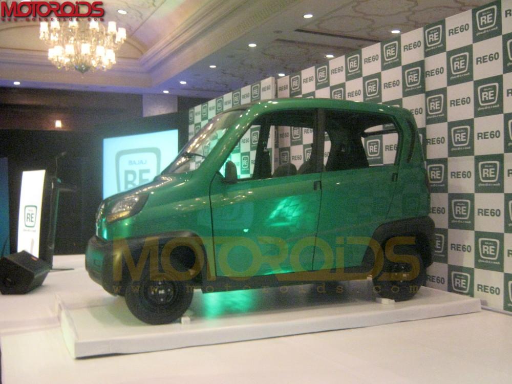 Bajaj Auto reveals its small car in Delhi Calls it the RE60