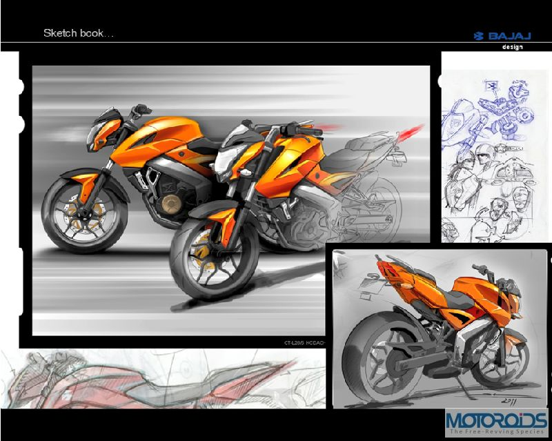 4. Pulsar 200NS Sketch Book Exclusive: Pulsar 200NS design sketches, and the story of its evolution