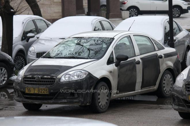 linea SPIED: Fiat Linea facelift caught testing