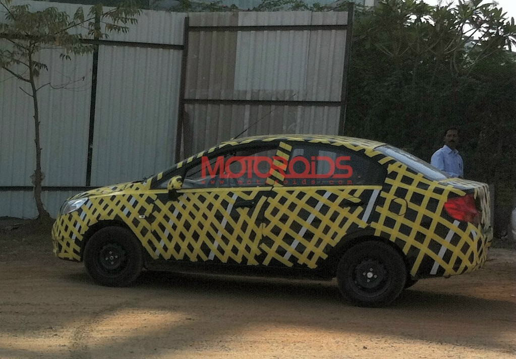 Chevrolet Sail sedan caught testing: June launch, more images and details