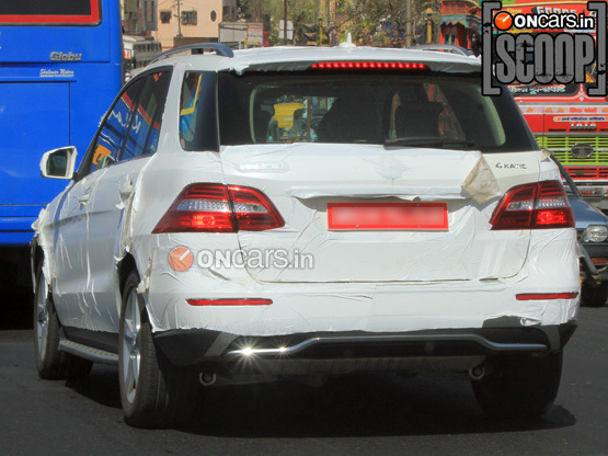 ML 350 cdi Mercedes Benz ML350 CDI Caught on Indian Roads