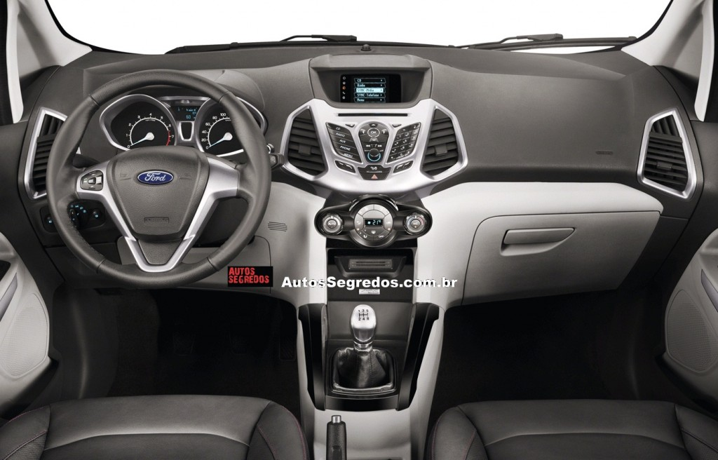 Ford EcoSport Interiors 1024x656 SPIED: Ford Ecosport dashboard undisguised