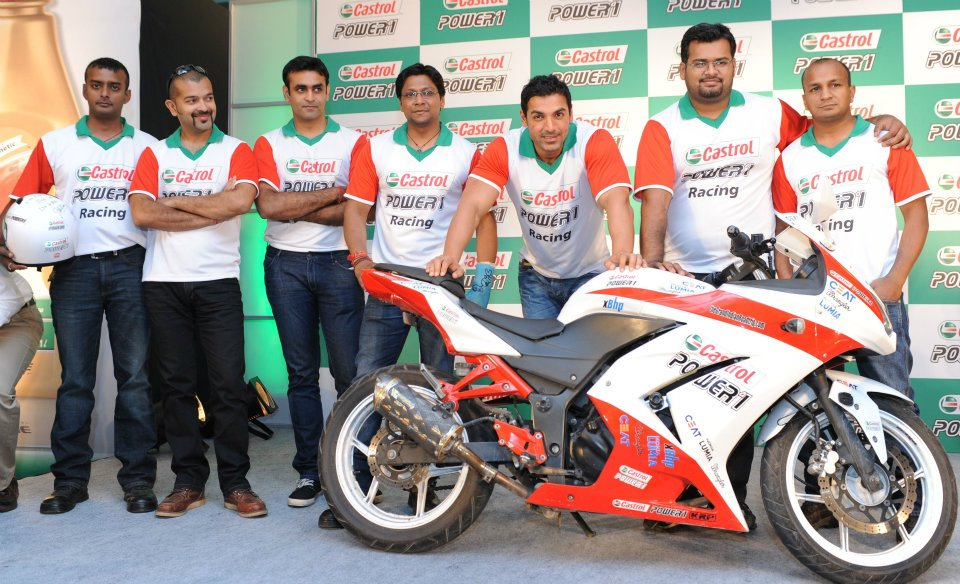 John Abraham welcomes Grand Indian Road Trip superbikers back in New Delhi Grand Indian Road Trip superbikers complete their road trip at New Delhi