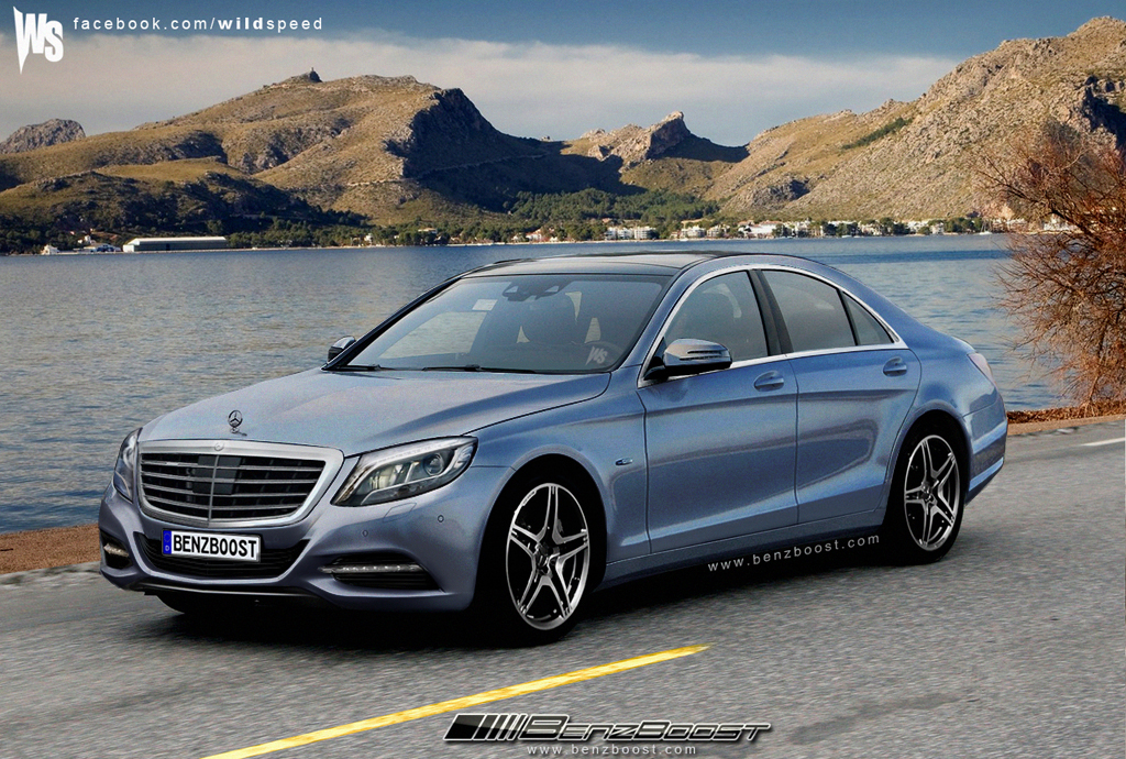 Mercedes Benz S Class 2013 front three quarters RENDERING: Most accurate renderings for 2015 Mercedes S Class