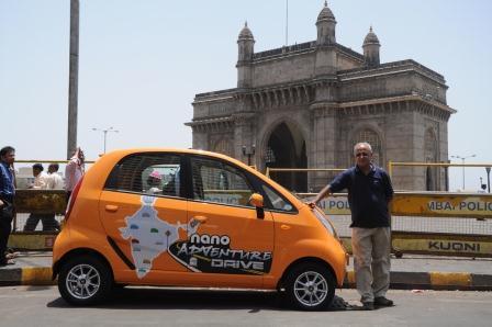 62 year old Thomas Chacko sets on a 25,000 kms drive in his Tata Nano