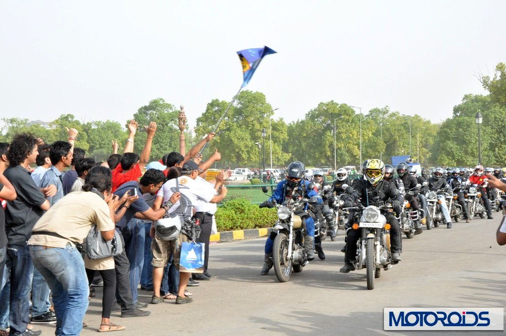 2012 Royal Enfield Himalayan Odyssey takes off from Delhi