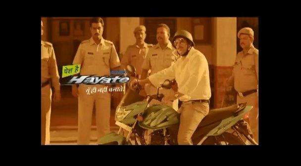 Have you seen Dabangg Salman in this Suzuki Hayate TVC yet?