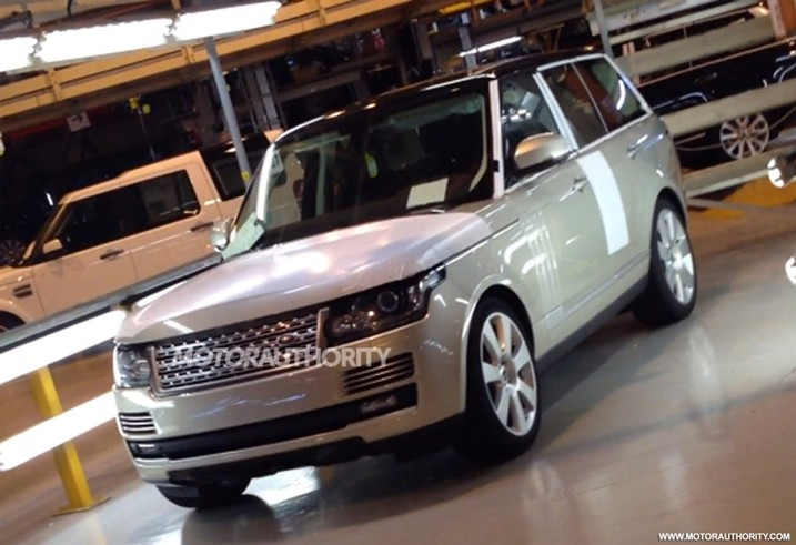2013 land rover range rover leak SPIED: 2013 Range Rover. To debut at Paris Motor Show