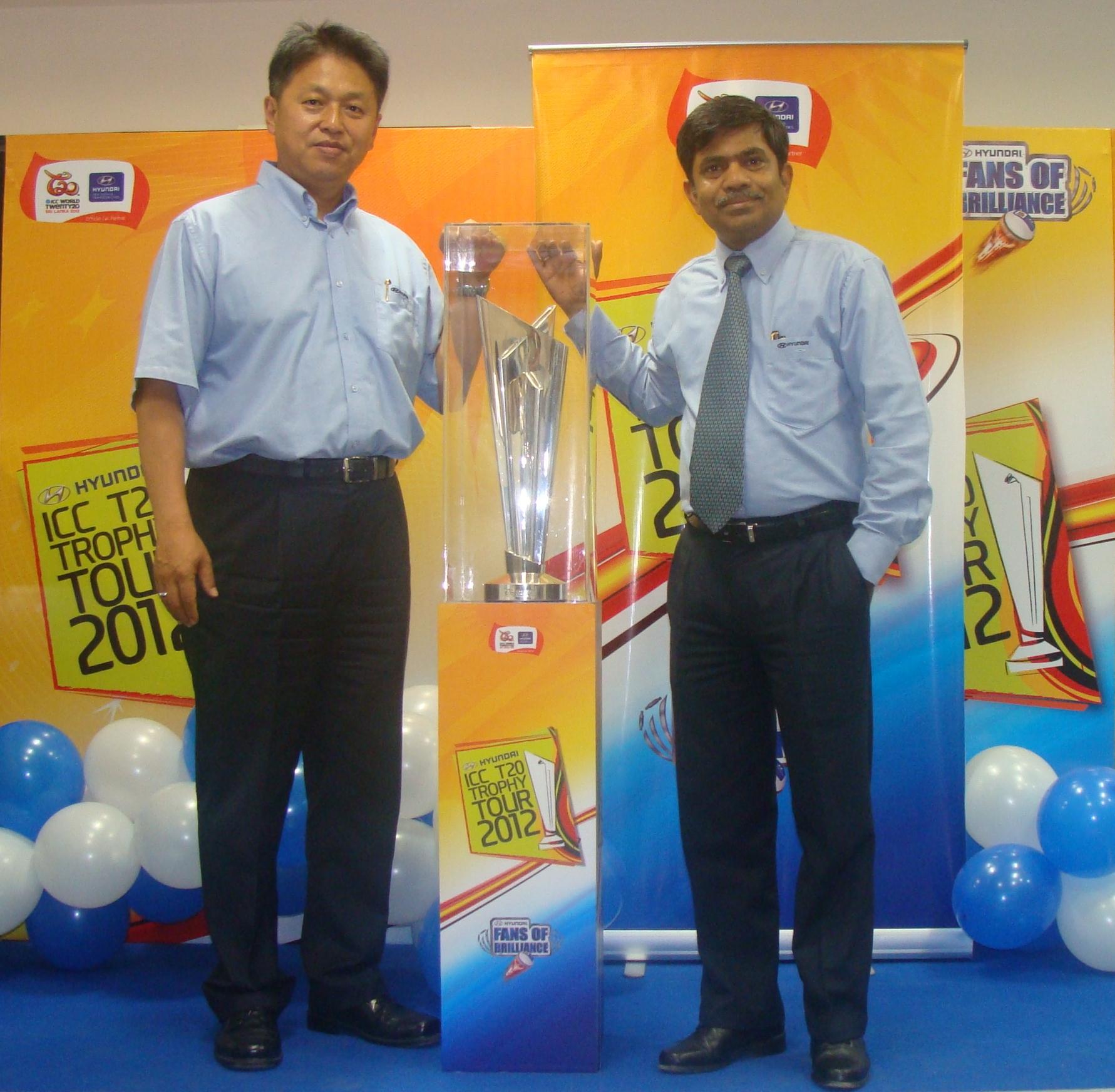 Hyundai the Official Partner for 'ICC World Twenty20′ announces 'Trophy Tour'