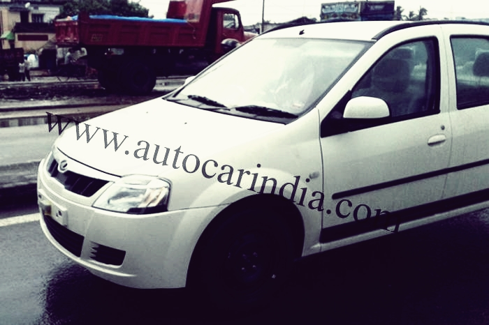 SPIED:  Mahindra Verito facelift caught undisguised