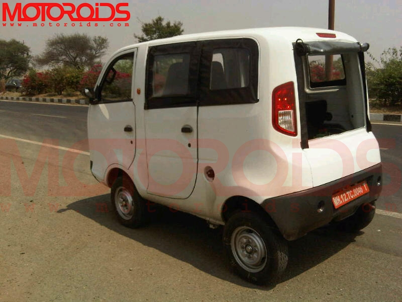 Scoop! Tata Nano based Iris mini-van and Penguin pickup spotted