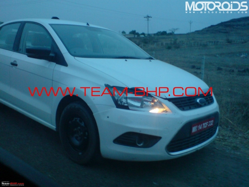 Volkswagen Polo sedan caught on test in India