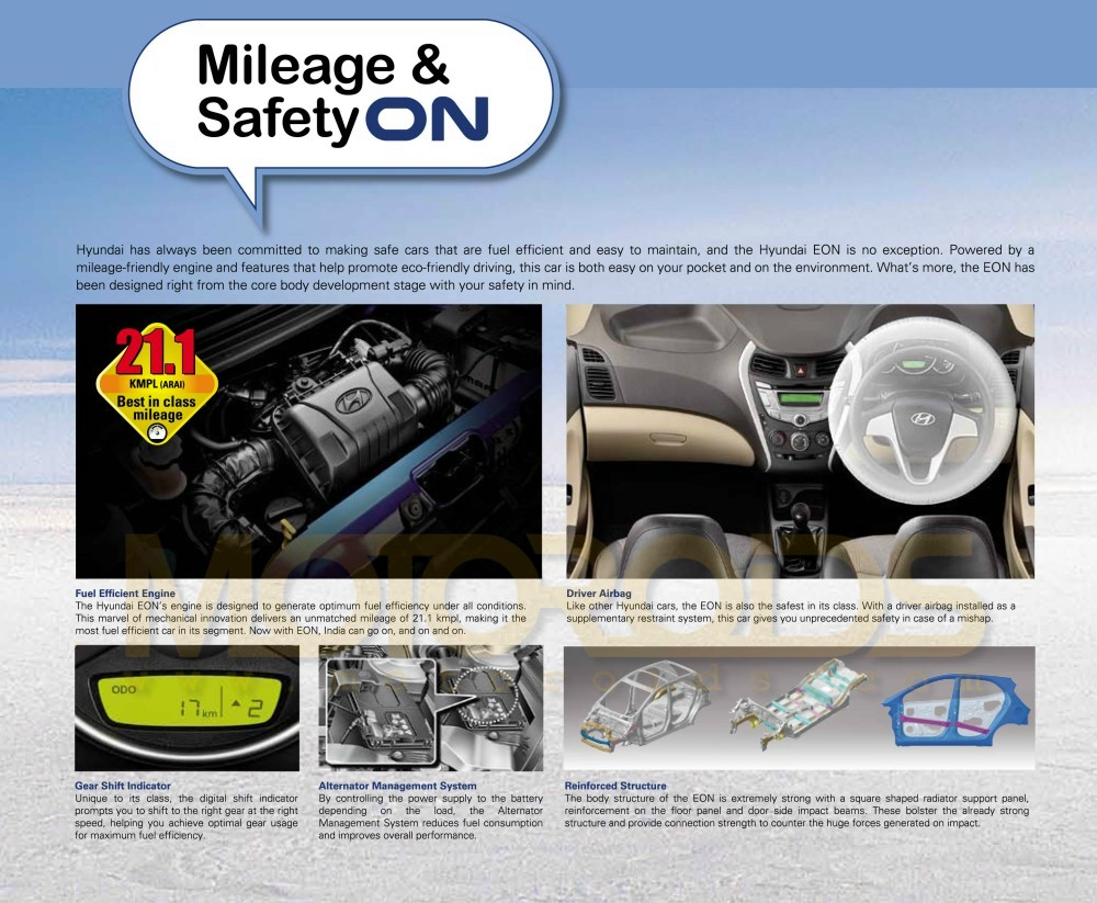 Untitled-21 Untitled-21 Untitled-20 Untitled-18 Micro-roof Head-lamps front-grille Fog-lmps Untitled-19 Untitled-221 Steering-wheel Instrument-panel Gear-Shift-indicator center-console Untitled-22 reinforced-structure keyless-entry Engine-efficiency Driver-airbag Alternator-managedment-system Eon-Specs-Sheet-Official Eon-features-5