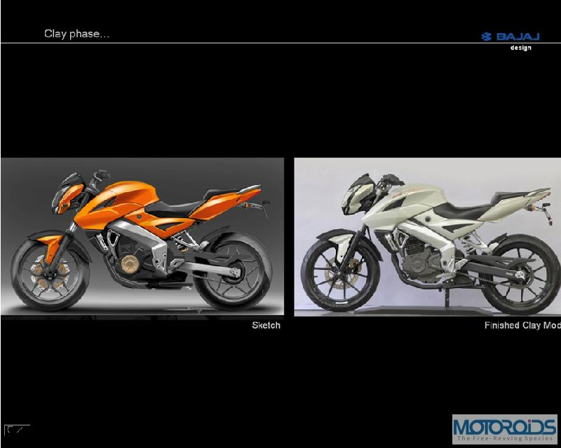 5. Pulsar 200NS Clay Phase Exclusive: Pulsar 200NS design sketches, and the story of its evolution