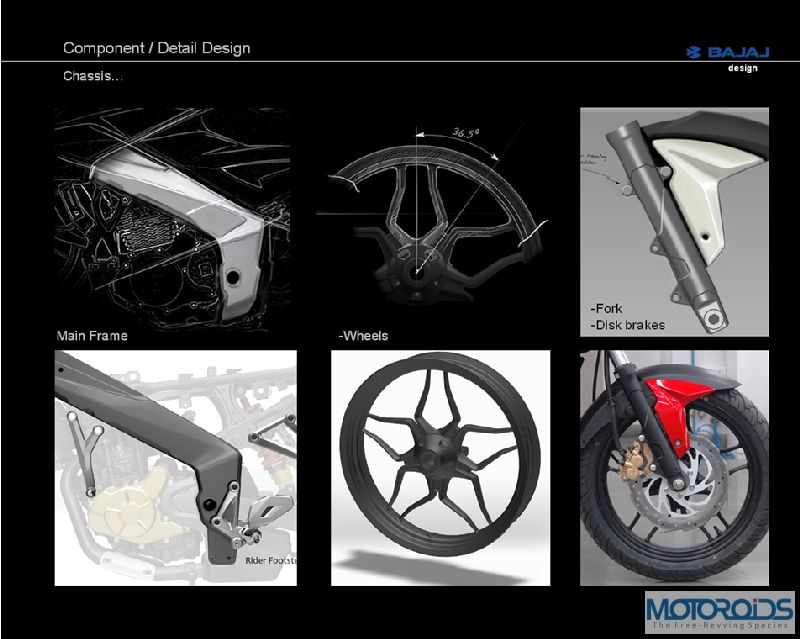 6. Pulsar 200NS Detailing in Design I Exclusive: Pulsar 200NS design sketches, and the story of its evolution