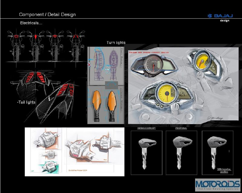 9. Pulsar 200NS Detailing in Design IV Exclusive: Pulsar 200NS design sketches, and the story of its evolution