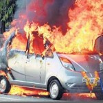 Tata Nano competes with Ferrari 458!…3rd Nano goes up in flames!