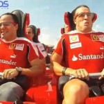 Ferrari F1's Massa and Alonso ride the world's fastest roller coaster