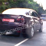 New Ford Fiesta sedan caught testing in Chennai
