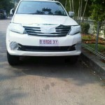 2012 Toyota Fortuner face lift spotted
