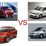 Features comparison: New Verna Vs City Vs SX4 Vs Vento