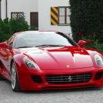 Ferrari 599's successor caught testing