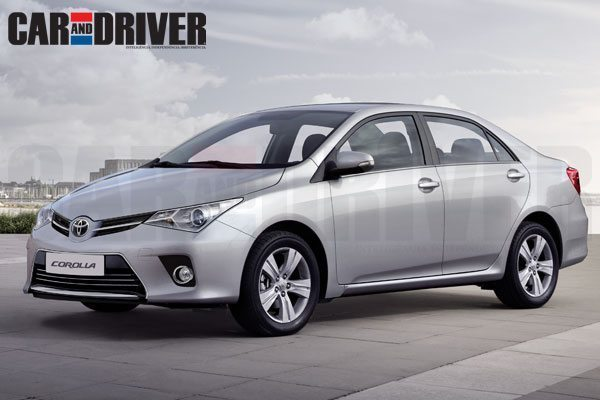 2013 Toyota Corolla: Renderings and details