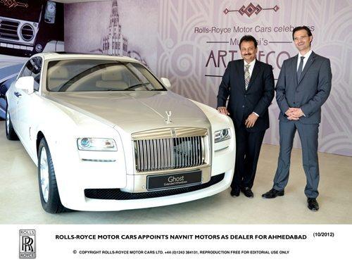 Rolls Royce India Appoints Navnit Motors as Dealer for Ahmedabad