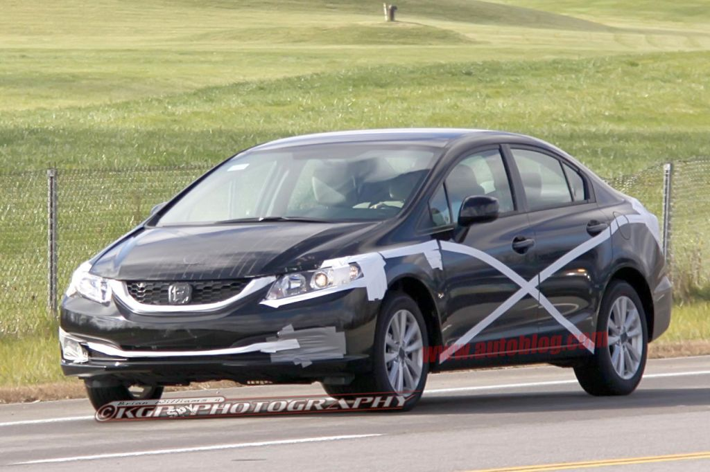 New Honda Civic is getting facelifted already for 2013: Spy images