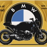 Retro styled boxer engine BMW for Motorrad's 90th anniversary