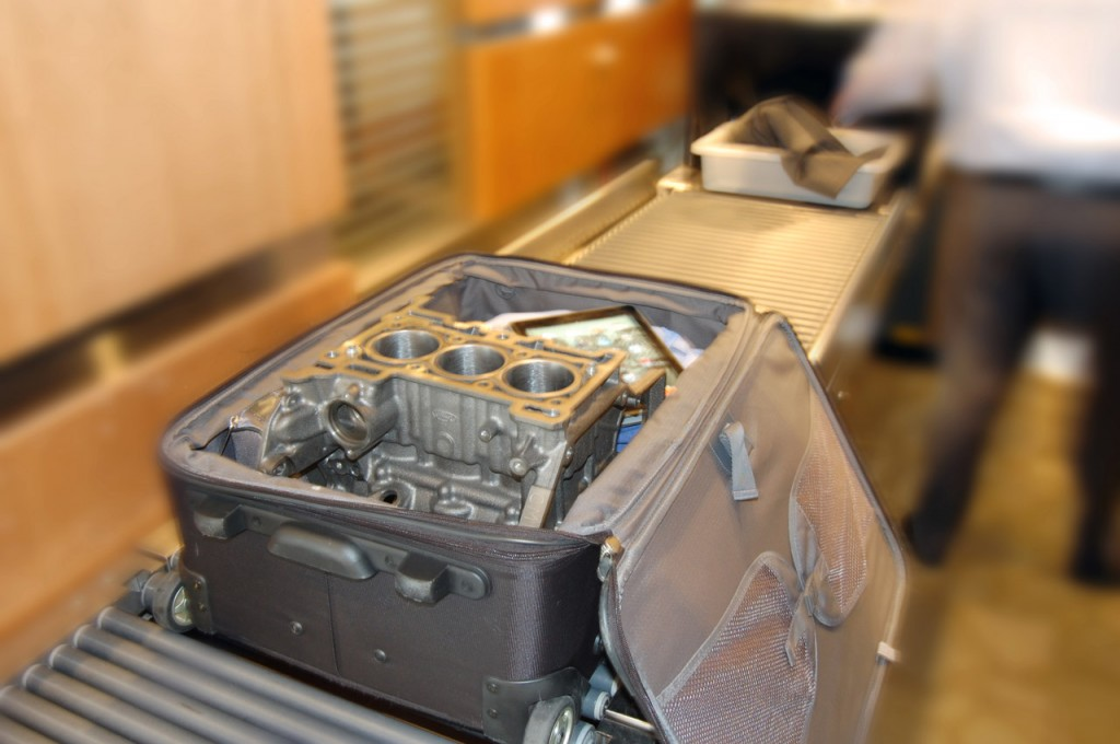 Ford 1.0L EcoBoost Engine Fits in a Suitcase!