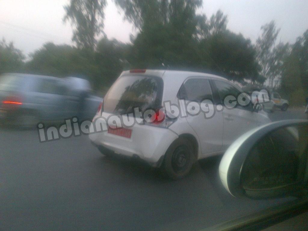 Honda Brio Diesel Caught Testing. Mid-2013 Launch
