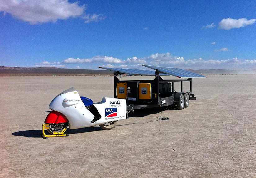 Solar-powered motorcycle sets new land speed record