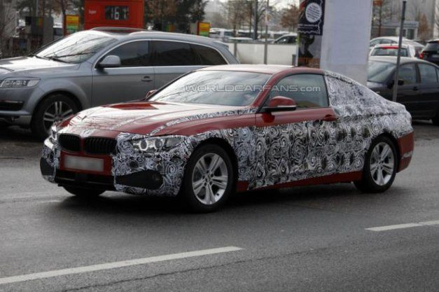 BMW 4 Series Coupe Production Version Caught Testing