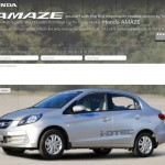 Honda Brio Amaze teased on Honda India website