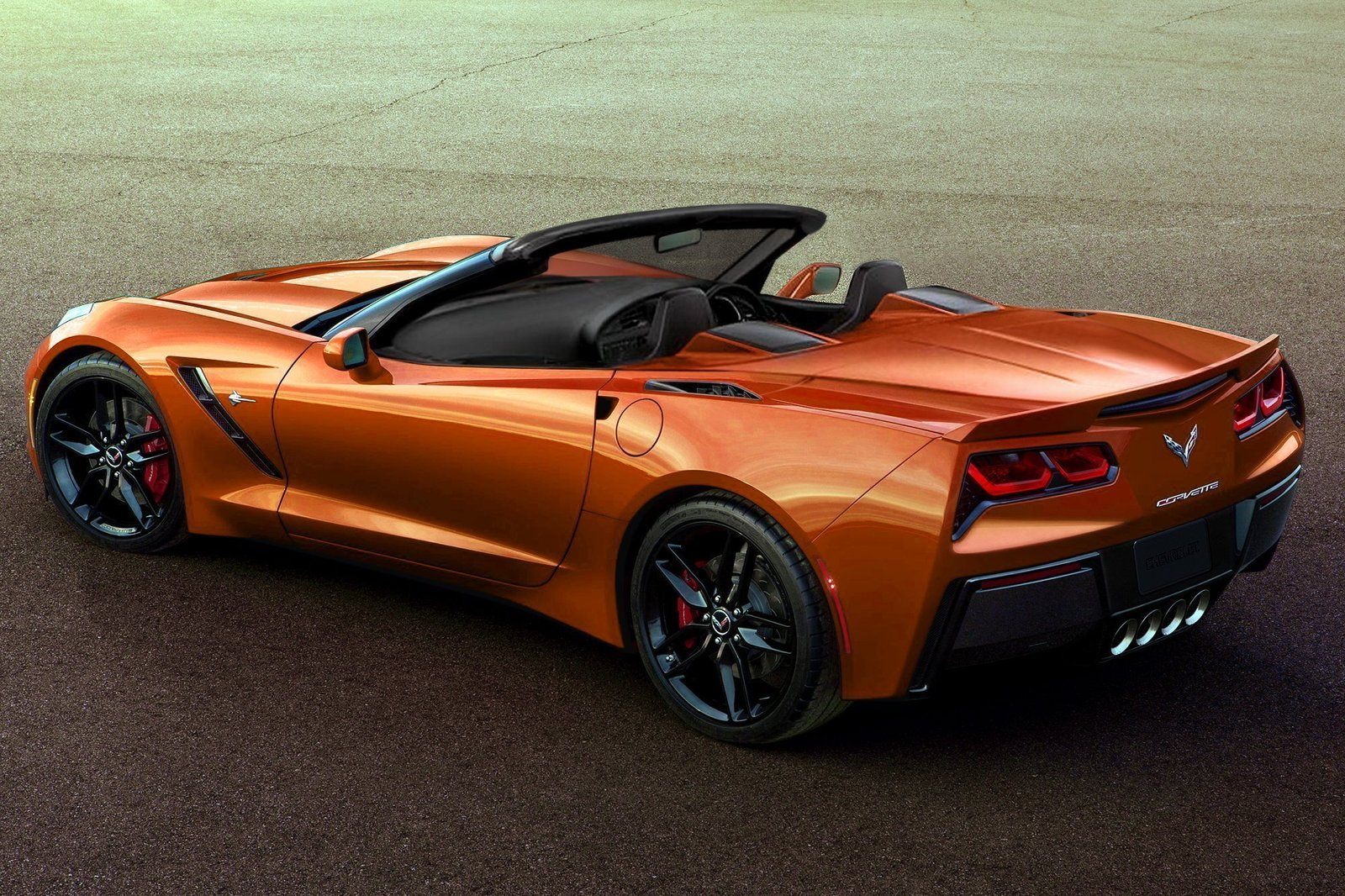 2014 Corvette Stingray convertibleCorvette Stingray 2014 Orange