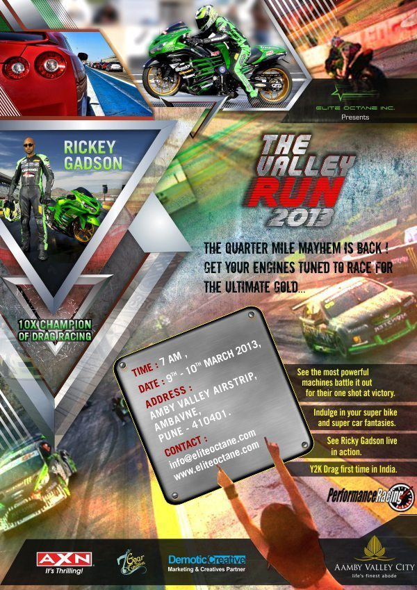 India's 1st International Level Drag racing event, 'The Valley Run