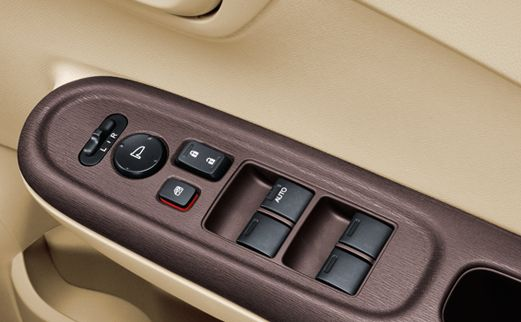 2013-Honda-Brio-Amaze-Compact-Sedan-Power-Window-and-Mirror-Adjust-Switches
