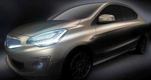 Mitsubishi G4 Concept might give birth to Mirage Compact Sedan. Teased