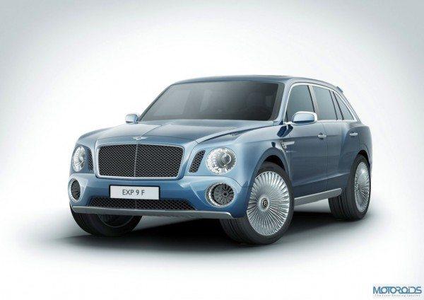 Bentley EXP 9F Bags 2000 bookings. Already!