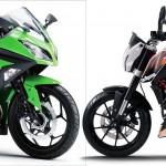 CONFIRMED: KTM Duke 390 & Kawasaki Ninja 300R to be unveiled in India on Apr 10