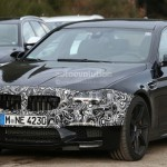 2014 BMW M5 facelift spotted near Nurburging