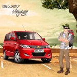GM India launches promotional campaign for Chevrolet Enjoy MPV.