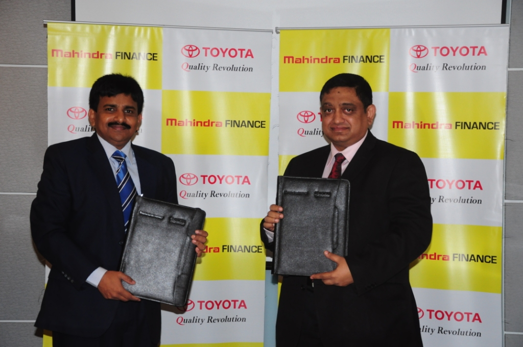Toyota Kirloskar Motor inks MoU with Mahindra & Mahindra Financial Services Ltd