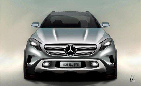 Mercedes GLA Concept sketch revealed before Shanghai debut