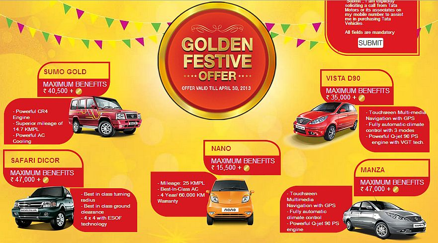 Tata Motors introduces Golden Festive Offer to push sales of its passenger vehicles