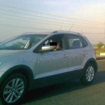 Volkswagen CrossPolo spotted testing in India