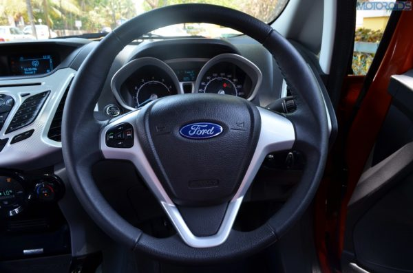 The steering is a tad on the lighter side and quite dead at the centre. & We spend a day with the Ford EcoSport in Goa | Motoroids markmcfarlin.com